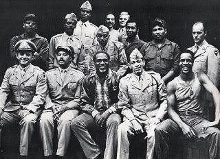 "THE NEGRO ENSEMBLE COMPANY PRODUCTION OF ""A SOLDIER'S PLAY"" .... Place: Fort Neal, Louisiana. Time: 1944."