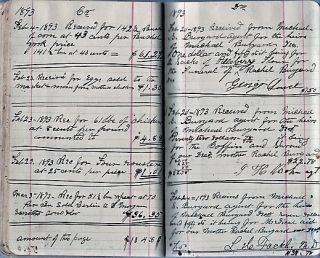1879-1893 HANDWRITTEN FARM JOURNAL AND ACCOUNT BOOK KEPT BY RICHARD S. BURGARD, A PRODUCTIVE FARMER OF EAST BERLIN, PENNSYLVANIA.