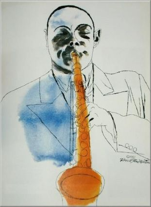 DAVID STONE MARTIN: JAZZ GRAPHICS. Private Edition of 150 copies, signed by the artist and by the editor, with a presentation inscription signed by the editor.