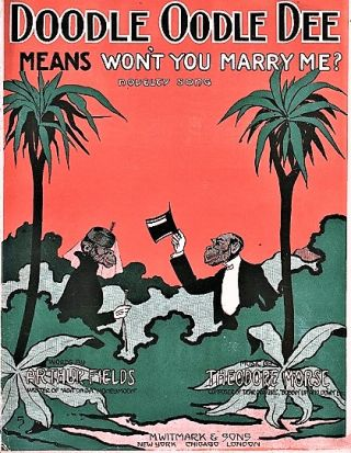 DOODLE OODLE DEE (MEANS WON'T YOU MARRY ME?): Novelty Song. Words by Arthur Fields. Music by...