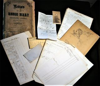 1861-1872 ARCHIVE OF SHIP'S OFFICER & CIVIL WAR VETERAN, ROBERT McCLEERY, INCLUDING HIS LOGBOOK...