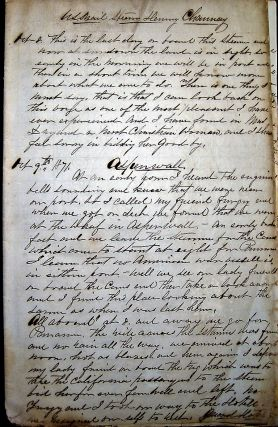 "1861-1872 ARCHIVE OF SHIP'S OFFICER & CIVIL WAR VETERAN, ROBERT McCLEERY, INCLUDING HIS LOGBOOK KEPT WHILE ABOARD THE USS ""OSSIPEE"" IN THE SOUTH ATLANTIC, AND HIS VOYAGES ON OTHER VESSELS, ALONG WITH SOME INTERESTING PERSONAL ITEMS.; As a career Navy man, born in Maryland, Robert W. McCleery was appointed Chief Engineer aboard the Steam Frigate ""Wabash"" and detailed to Port Royal Harbor as part of the South Atlantic Blockading Squadron during the Civil War."
