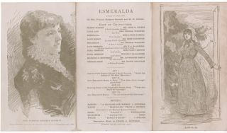 "ILLUSTRATED PLAYBILL FOR ""ESMERALDA,"" A PLAY IN FOUR ACTS, MADISON SQUARE THEATRE, WINTER SEASON,..."