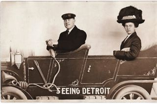 """SEEING DETROIT"" REAL-PHOTO POSTCARD. Detroit Michigan"