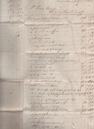 GROUP OF SIX (6) HANDWRITTEN LEGAL DOCUMENTS, DATED 1818-1843, FROM THE FAMILY OF BLACKSMITH ISAAC BRIGGS OF PLAINFIELD AND VOLUNTOWN, CONNECTICUT.