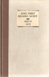 AN ECCLESIASTICAL MEMOIR OF THE ESSEX STREET RELIGIOUS SOCIETY IN A SERIES OF LETTERS ADDRESSED...