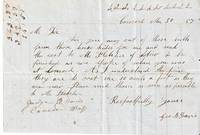 AUTOGRAPH LETTER (ALS) FROM CONCORD [NEW HAMPSHIRE], 30 MARCH 1857, RE HORSEHIDES TO BE SENT TO VERMONT. George B. Davis.