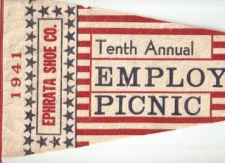 TENTH ANNUAL EMPLOYEES PICNIC - EPHRATA SHOE COMPANY ...1941...Ephrata, Pennsylvania: ...