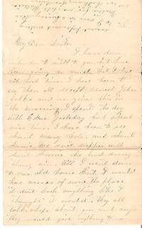 "Handwritten letter to ""Dear Sister"" New England"