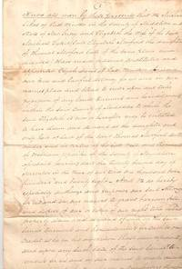 1825 HANDWRITTEN POWER-OF-ATTORNEY and deposition pertaining to land in East Windsor, Middlesex...