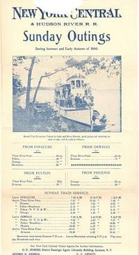 NEW YORK CENTRAL & HUDSON RIVER R.R.; Sunday Outings during Summer and Early Autumn of 1900. New York Central Railroad.