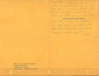 "1969 HANDWRITTEN NOTE (ANS) BY THE AMERICAN POET, ON HIS PRINTED SEASONAL GREETING, ""NOTES FROM..."