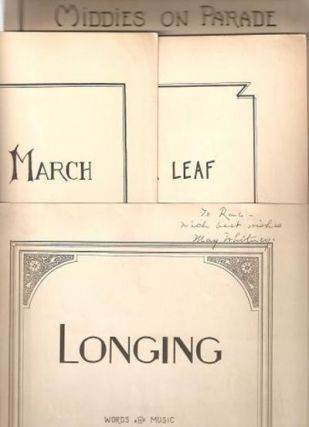 SHEET MUSIC: Group of four: Yankee March, 1929; The Clover Leaf,1932; Middies on Parade, 1934;...