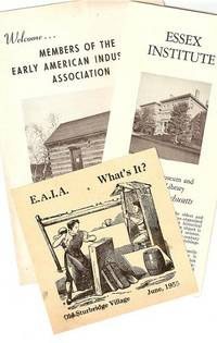 GROUP OF 16 EAIA PRINTED ITEMS. Early American Industries Association.